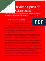 Christmas Exposed as a Devilish Feast From Paganism and Satan Worship - Lifesureplan at Lgi - 25.12.2017ad