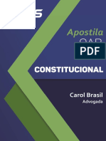 Apostila Direito Constitucional Carolinne Brasil