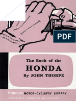 The Book of the Honda by John Thorpe 1966