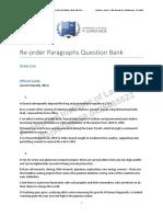 Re Order Paragraphs Question Bank