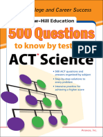 500 ACT Science Questions