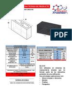 Ficha Tecnica Block Hueco 20x20x40 Linea No Estructural Nmx-c-441