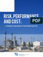 GenesisSolutions Risk Performance Cost in the Power Industry