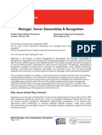 Manager Donor Stewardship and Recognition