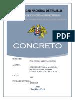 Concreto Especificaciones y Control de Calidad
