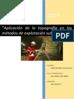Aplicación de La Topografía en Los Métodos de Explotación Subterránea
