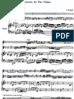 Bach Double Concerto Score