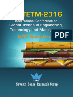 International Conference ICGTETM 2016 Proceedings