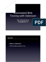 Automated Web Testing Using Selenium