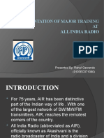 A Presentation of Major Training at all india radio,bhopal
