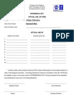 Ctu Entry Form