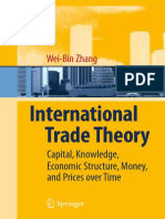 International Trade Theory Capital Knowledge Economic Structure Money and Prices Over Time