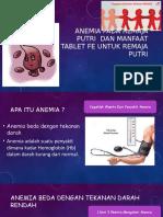 Anemia Pada Remaja Putri Dan Manfaat Tablet Fe