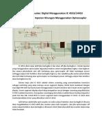 Rangkaian Counter Digital Menggunakan IC 4553 Opto