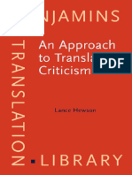 An Approach to Translation Criticisim