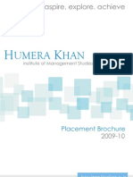 Placement Brochure 2009