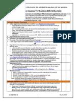 IDLV Checklist