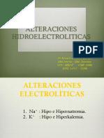 Alteraciones electrolíticas