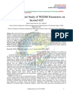 An Experimental Study of WEDM Parameters on Inconel-625