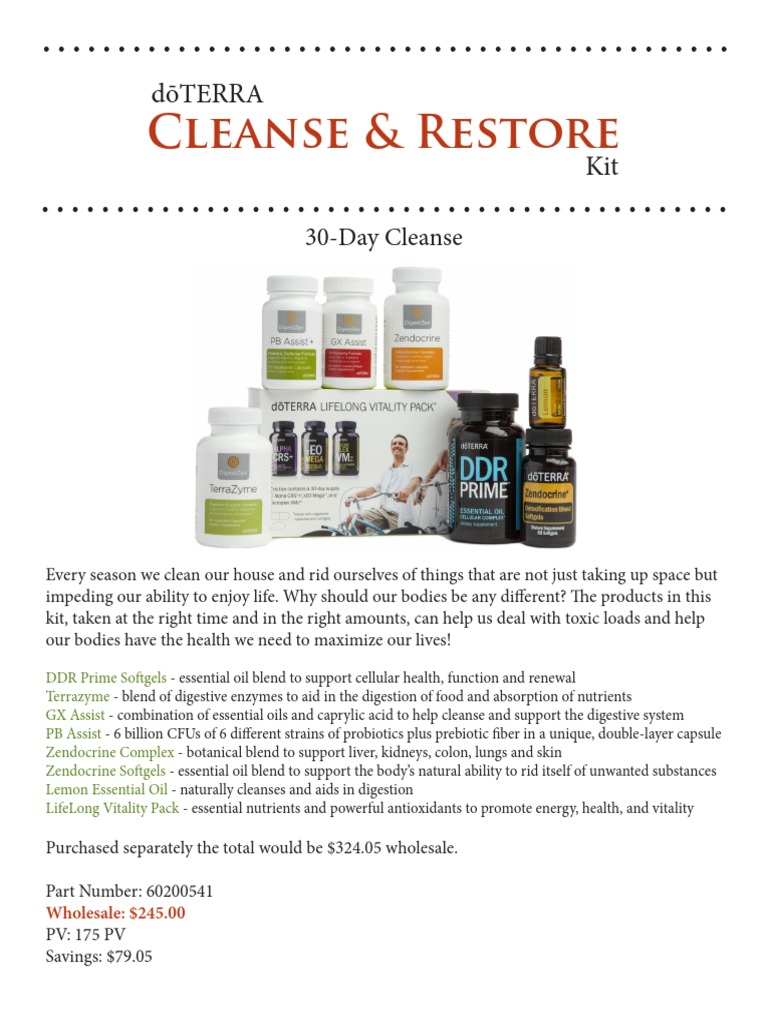 cleanse and restore doterra