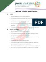 Petunjuk Teknis Gma Cup 2016