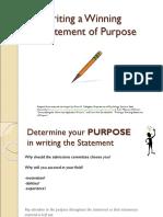 Statement of Purpose Workshop