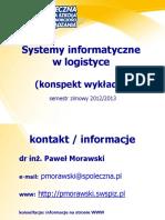 Systemy Informatyczne w Logistyce Konspekt