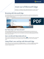 Getting the Most Out of Microsoft Edge