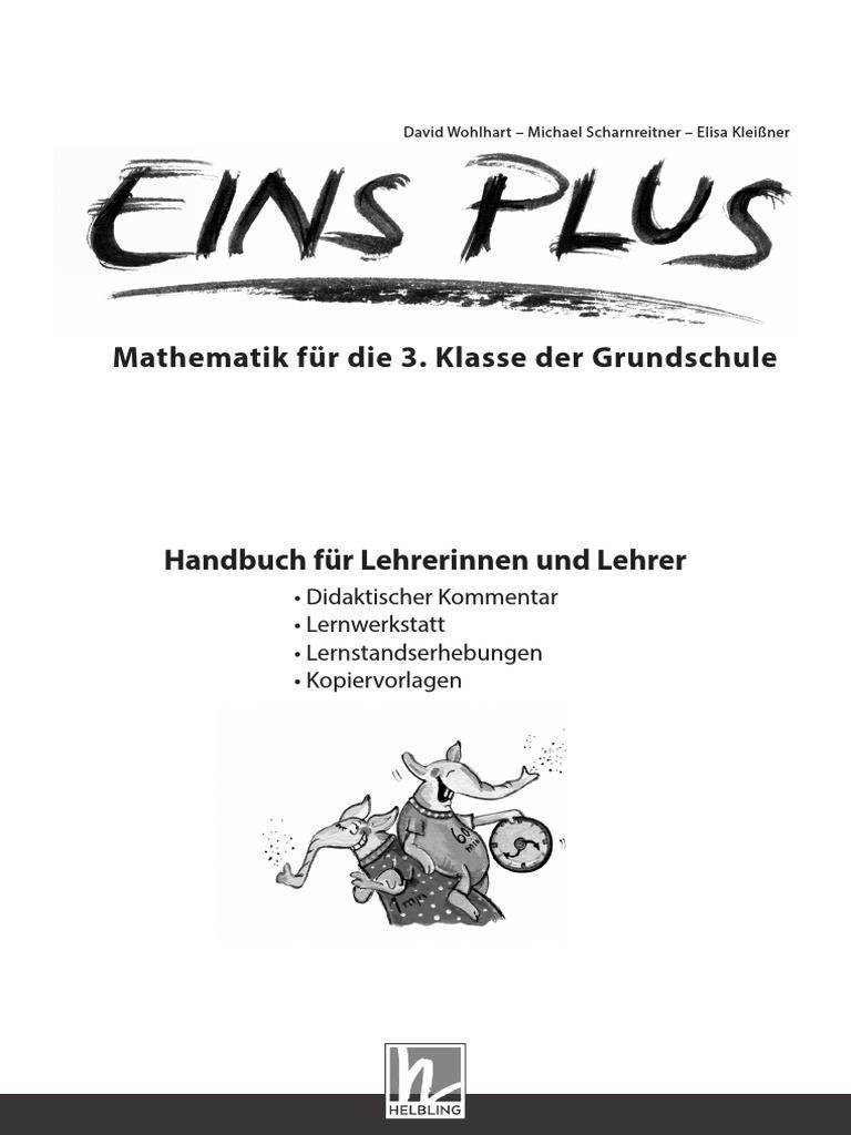 Eins Plus - Mathematik Für Die 3. Klasse Der Grundschule - Handbuch ...