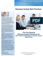 WHITEPAPER Inteqs Five Essential Business Analysis Quesitons 2016