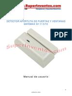 s111370 Detector Apertura Puertas y Ventanas Safemax