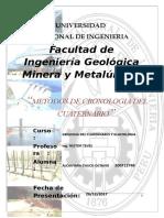 1 Informe; Cronologia Del Cuaternario