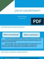 Estimation of Uncertainty