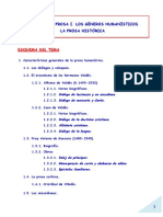 5 - Tema 7 La Prosa I. Los Géneros Humanísticos. La Prosa Histórica