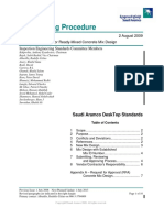 SAEP-1152 - Approval Procedure for Ready-Mixed Concrete Mix Design