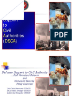 Defense Support to Civil Authority (DSCA)