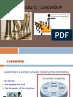 Role of Leadership-kasthury