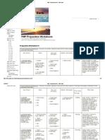 PMP Prep Worksheets - PMP Bank