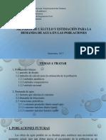 métodos de calculo y estimación de la población para la demanda de agua en la población