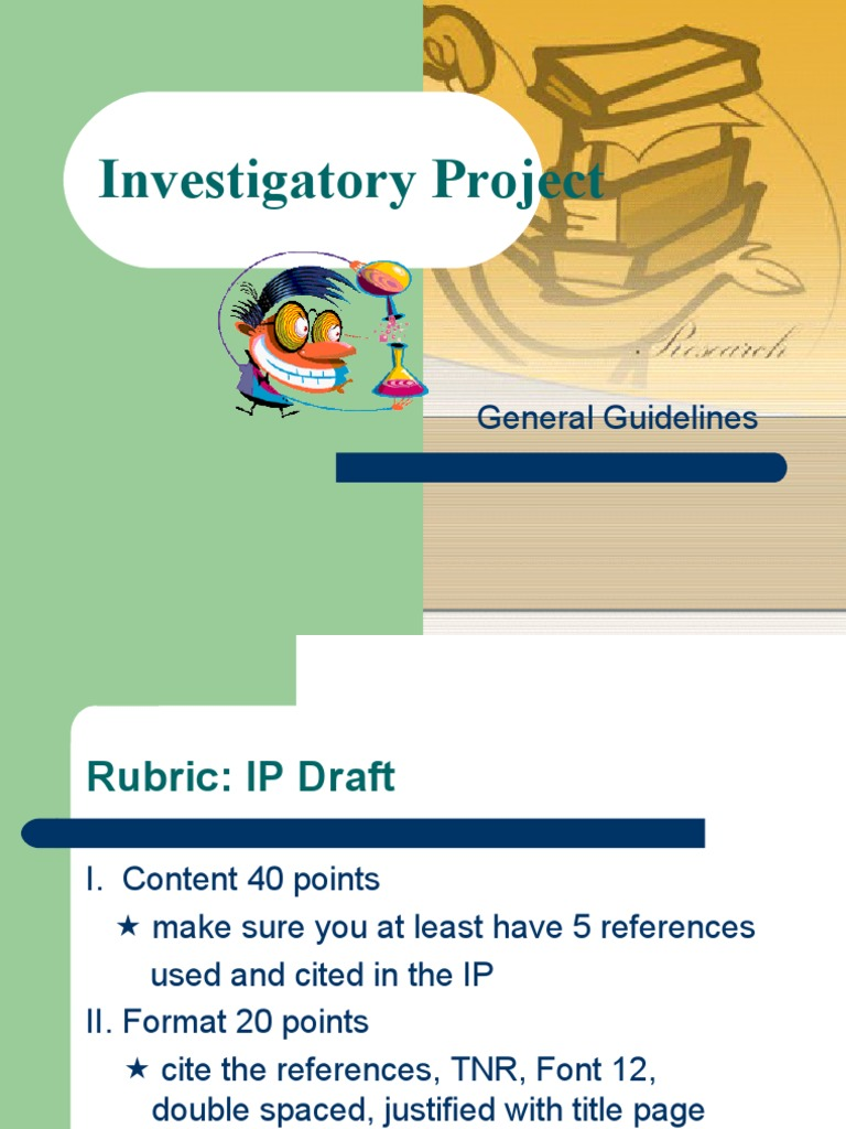 science investigatory project 7 essay Is the use of science investigatory project affect the performance of the students in research based on the  investigatory project in science -7 uploaded by.