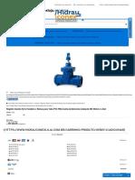 Registro Gaveta Ferro Fundido PVC PBA Cabeçote DN 50mm - Hidrauconex