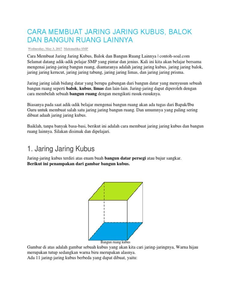 Cara Membuat Jaring Jaring Kubus 22466ea60d
