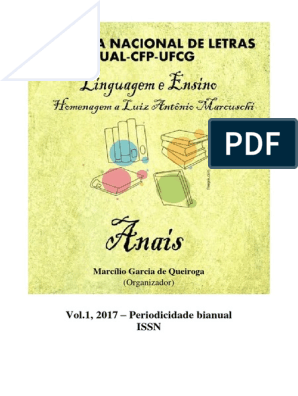 Anais Semana De Letras 2016 Pdf Gramática Transtorno De