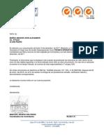 Carta Retiro Jhon Muñoz