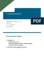 SANOG16 BGP Troubleshooting