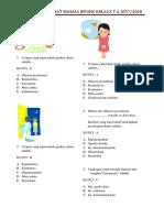 Soal Pas Lintas Minat Bahasa Jepang Kelas x (Cirateun)