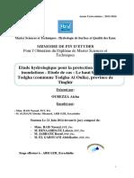 Etude hydrologique pour la pro - OUBEZZA Aicha_1493.pdf