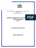 NCSE 2006 Integrated Science