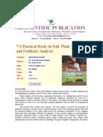 Microsoft Word - A Practical Books on Soil,Plant,Water & Fertilizer Anlysis