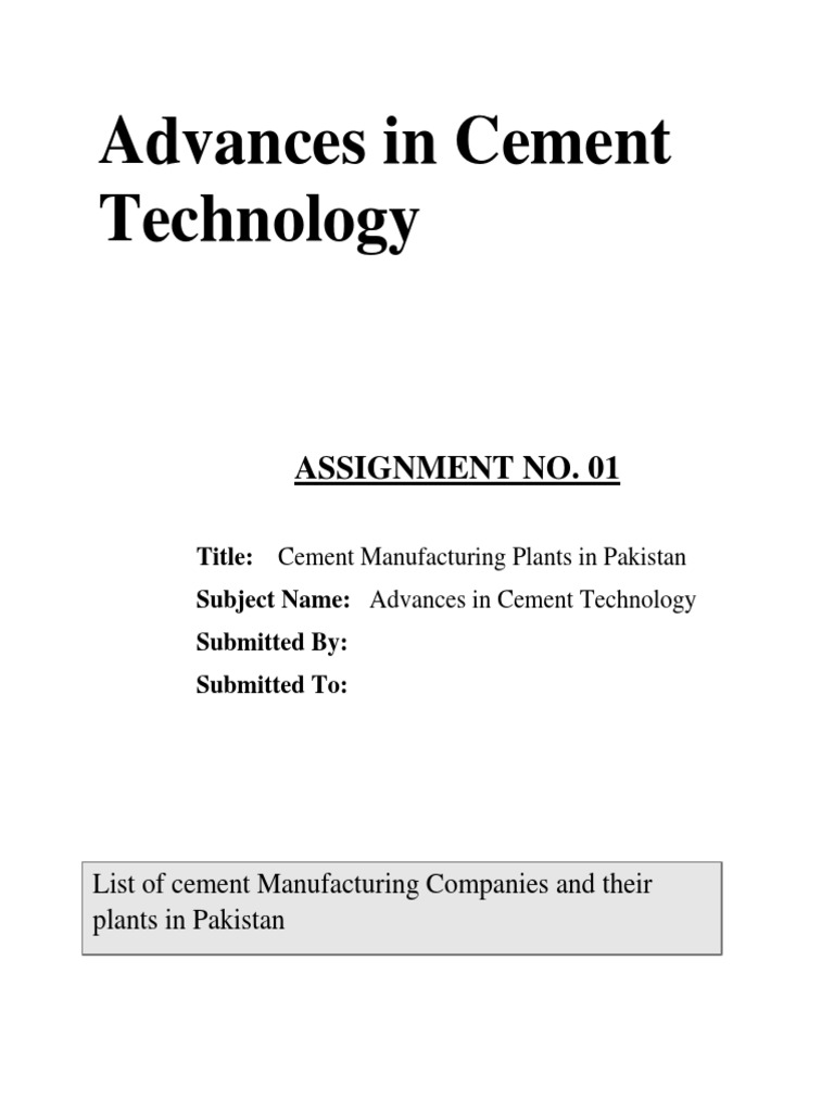 Cement Manufacturers in Pakistan
